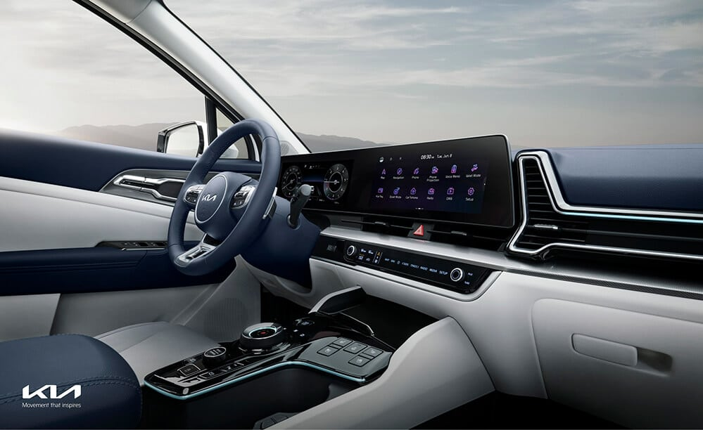 The all-new Sportage dashboard, the ultimate urban SUV.